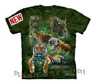 Child JUNGLE TIGERS Cat The Mountain T Shirt All Sizes From 4 -14 Years 15-3301
