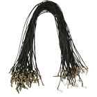 """25 x Black Waxed Cotton Necklace Cords 18"""" and 20"""" - Wholesale"""