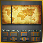 Vintage World Map Abstract Modern Contemporary Canvas Wall Art Deco ~ More Size