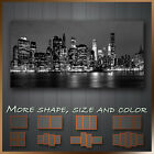 ' New York City At Night Skyline ' Cityscape Modern Canvas Deco