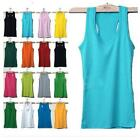 25inch Women's Sleeveless Tank Tops Cami No Sleeve Cotton T-Shirt US Seller