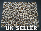 FAUX FUR FABRIC BEIGE LEOPARD PRINT CRAFT COVERING SKIN DECAL STICKER 28 x 19cm