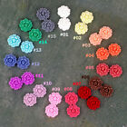 16mm Flowers Cabochons Colorful Resin Garden Flowers Cameo Flat Back P226 (6pcs)