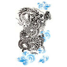 1 x SHEET BOYS MENS LARGE BLACK ARTY CHINESE DRAGON TEMPORARY TATTOOS PARTY GIFT