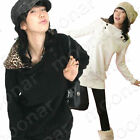 New Korean Women Hot leopard Hoodie Warm Outcoat Winter jackets Long Sleeve Coat