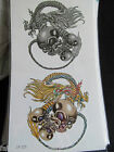 1 SHEET MENS BOYS ARTY BLACK GOTH SCARY SKULLS TEMPORARY TATTOOS 20x10cm UK SELL