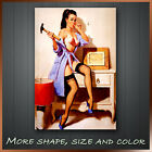 ' PinUp Girl Retro Pin Up Lady ' Vintage Poster Art Canvas Print Ready To Hang !