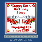 *Personalised* 18th-21st-30th + Any Age Birthday VW Camper Van Drinks coaster