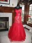 Precious Formals P20847 Firecracker Red Pageant Mermaid Gala Gown  SALE!!
