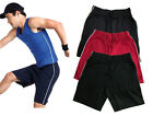Jerzees 131M BLACK, GREY,NAVY BLUE or RED Cotton Gym Board Shorts