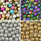Acrylic STARDUST Metallic Glitter BEADS - Choose 4mm, 6mm, 8mm & 10mm