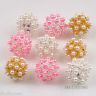 FREESHIP 5 PCS Mixed Color Imitation Pearl Resin Spacer Beads Charm 16 mm 0512BZ