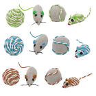 Assorted sets of fun mice rattle corded balls cat toys toy kitten sisal canvas