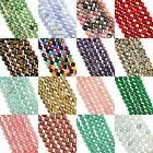 "16"" Strand GEMSTONE Crystal ROUND BEADS 6mm (65+ Beads)"