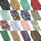 "16"" Strand N-Z GEMSTONE Crystal ROUND BEADS 8mm (50+ Beads)"