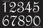 STENCIL Paris French Script Numbers Bride Lake House Address Old Primitive Signs