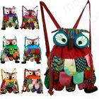 Preschool Kids Owl Ethnic Bag Colorful Stitch Boy's Backpack Children Purse Gift