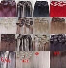 """28""""-36"""" Remy Human Hair 21Clips In Extensions Straight 9parts Any Color,140g"""