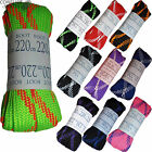 CRAZY Laces 220cm Wide Flat  for Quad Skates Boots Roller Derby Choose Colour