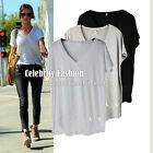 tp29 Celebrity Style Fashion Must Loose-fit Deep Scoop Neck Pocket Tank Top