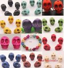 sell 20x new Loose Man-made Turquoise Skull Spacer Beads For Bracelet