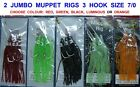 3 TRONIX MUPPET RIGS 3 HOOK 7/0 GAME SEA FISHING COD SQUID BOAT ROD LINE LURES