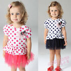 New Toddler Girls Polka dots  Tulle Princess Formal Party Dresses  Size 0.1,2.3
