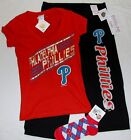PHILADELPHIA PHILLIES MLB SLEEP LOUNGE PANT PAJAMAS SET WOMAN'S S M L SHIRT SOX