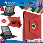 Luxury Leather 360 Degree Rotating Flip Case Stand Cover for iPad 3 2 Sleeve New