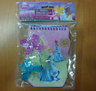 GIRLS DISNEY PARTY FAVORS  PRINCESS NOTEBOOK WITH 3 HAIR CLI