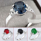 A1-R3060 Solitaire Gemstone Fashion Ring White Gold 18KGP Swarovski Crystal