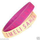 Emeli Sande wristband silicone bracelet / wrist band bangle gift fashion