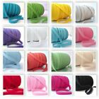 ALL COLOURS - PLAIN PICOT LACE CROCHET EDGE BIAS BINDING ribbon trim folded p m