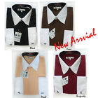 Men's Stylish Tdc Collection French Cuff Dress Shirt All Sizes New 003
