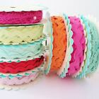 3m ROLL - SASS AND BELLE  - RIC RAC & LACE TRIM RIBBON LOTS OF COLOURS