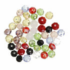 50/80pcs Round Faceted Crystal Glass Findings Loose Spacer Beads U Pick Color