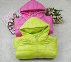 Girls Angel Wings Winter Coat Quilted Jackets Pinks Green Size 03-4-5-6-7-8 year