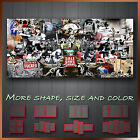 ' Banksy Collage Montage ' Graffiti Art Decorative Wall Canvas ~ Gift for Xmas