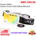 Rayzor Ski Snowboard Goggles Mens Womans Ladies Unisex UV400 Anti Fog RRP£69