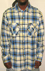 Ecko Unlimited Button Up Shirt New Victory Blue Uptown Plaid Flannel Choose Size