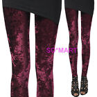 Soft Velvet Women Rock Punk Funky Sexy Leggings Pants size Large L XL XXL