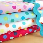 CARNIVAL DOT - 13mm SPOT COTTON FABRIC per m  FASHION QUILTING FUNKY RETRO KIDS