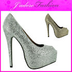 NEW LADIES  STILETTO HIGH HEEL PEEP TOE PLATFORM COURT SANDALS SHOES SIZE UK 3-8