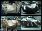 LADIES CELEBRITY DESIGNER STYLE FAUX LEATHER STUDDED BASE HANDBAG DUFFEL TOTE