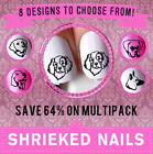 x20 NAIL ART WRAP WATER TRANSFER STICKER DECALS DOG 8 Breeds To Choose From DA