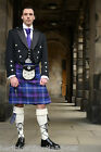 Black Deluxe Scottish Prince Charlie Kilt Jacket and Waistcoat Wool