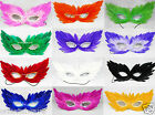 Multicolor Beautiful Real Feather Masquerade mask/Mardi Gras You Pick on Sale