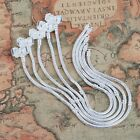 19/20/21/22/23CM Silver Plated Snake Bracelet Fit European Beads Stamped Clasp