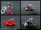 UNIQUE MOPED MOTOR CYCLE VESPA MOVING HANDLE BAR SOLID METAL KEYRING GIFT IDEA