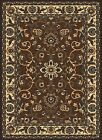 BROWN chocolate TRADITIONAL floral PERSIAN carpet ORIENTAL bordered AREA rug